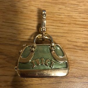 Green doggy bag juicy couture gold charm